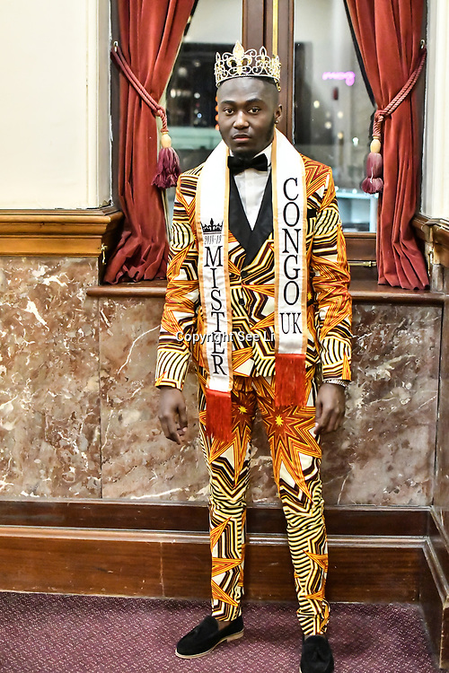 Jeffrey Samba Mr Congo UK 2018 attend the Mr & Miss Congo 2020,on 29th Febryary 2020 at Old Townhall,Stratford, London, UK