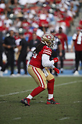 San Francisco 49ers defensive tackle Sheldon Day (96) in action during the NFL week 4 regular season football game against the Los Angeles Chargers on Sunday, Sept. 30, 2018 in Carson, Calif. The Chargers won the game 29-27. (©Paul Anthony Spinelli)