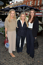 Left to right, TABITHA WILLET, SCARLETT HALL and MIMI LABOUCHERE at the Bluebird's End of Summer Party with Taylor Morris held at Bluebird, 350 King's Road, London on 29th September 2016.