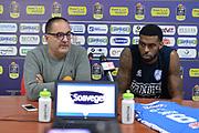 Donta Smith<br /> Happycasa Brindisi Presentazione Donta Smith<br /> Legabasket A 2017/2018<br /> Brindisi 01/12/2017<br /> Foto Ciamillo-Castoria/ M.Longo