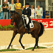 Hayley Beresford and Relampago at the Hong Kong Equestrian Venue of the 2008 Beijing Olympic Games