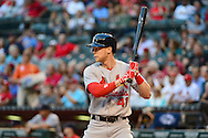 PHOENIX, AZ - APRIL 26:  Jeremy Hazelbaker #41 of the St. Louis Cardinals at bat against the Arizona Diamondbacks at Chase Field on April 26, 2016 in Phoenix, Arizona. The St Louis Cardinals won 8-2.  (Photo by Jennifer Stewart/Getty Images)