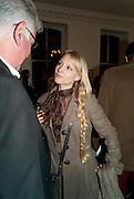 BRADLEY ADAM; CHARLOTTE HOLLAND, Book launch for Isabella Blow- A Life in Fashion. Book by Lauren Goldstein Crowe. Henrietta St. London. 23 February 2011. -DO NOT ARCHIVE-© Copyright Photograph by Dafydd Jones. 248 Clapham Rd. London SW9 0PZ. Tel 0207 820 0771. www.dafjones.com.