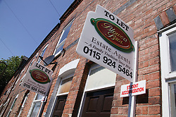 Student accommodation advertised in the Lenton area of Nottingham,