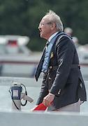 "Henley on Thames. Henley. GREAT BRITAIN;  Umpire, Martin BRANDON-BRAVO.<br /> <br /> 1995 Women's Henley Regatta. Henley Reach. River Thames.<br /> <br /> [Mandatory Credit; ""Photo, Peter Spurrier/Intersport-images]"