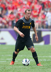 BALTIMORE, MD - Saturday, July 28, 2012: Liverpool's Charlie Adam in action against Tottenham Hotspur during a pre-season friendly match at the M&T Bank Stadium. (Pic by David Rawcliffe/Propaganda)