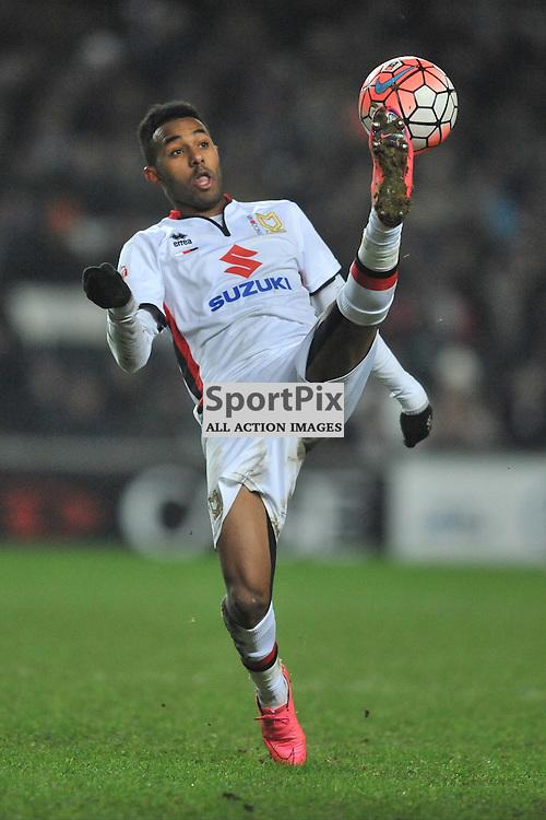 ROB HALL  MK DONS,  MK Dons v Northampton Town, FA Cup Emirates FA Cup Third round Repay, Stadium MK, Tuesday 19th January 2016