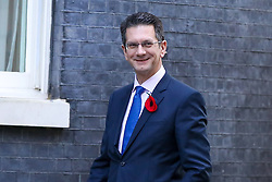 ©© Licensed to London News Pictures. 28/10/2019. London, UK. Chairman of European Research Group (ERG) STEVE BAKER arrives in Downing Street. Later today MPs will vote on BORIS JOHNSON's motion on a general election in December 2019. Photo credit: Dinendra Haria/LNP