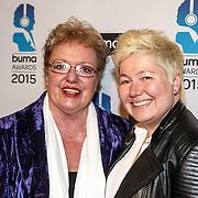 NLD/Hilversum/20150217 - Inloop Buma Awards 2015, Astrid Nijgh en partner