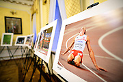 Lochow, Poland - 2016 October 9: Photo Exhibition by photographer Adam Nurkiewicz, pictures from 15th IAAF World Athletics Championships Beijing 2015 during Photo Festival Optyczne PL 2016 at Lochow Palace on October 9, 2016 in Lochow, Poland.<br /> <br /> Adam Nurkiewicz declares that he has no rights to the image of people at the photographs of his authorship.<br /> <br /> Any editorial, commercial or promotional use requires written permission from the author of image.<br /> <br /> Mandatory credit:<br /> Photo by &copy; Adam Nurkiewicz / Mediasport