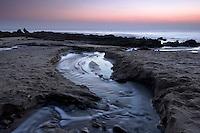 Creek Run-off at Dusk, Corona Del Mar State Beach, California