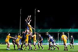 Andrew Kitchener of Worcester Cavaliers and Theo Vukasinovic of Wasps A challenge at a line out - Mandatory by-line: Robbie Stephenson/JMP - 16/12/2019 - RUGBY - Sixways Stadium - Worcester, England - Worcester Cavaliers v Wasps A - Premiership Rugby Shield