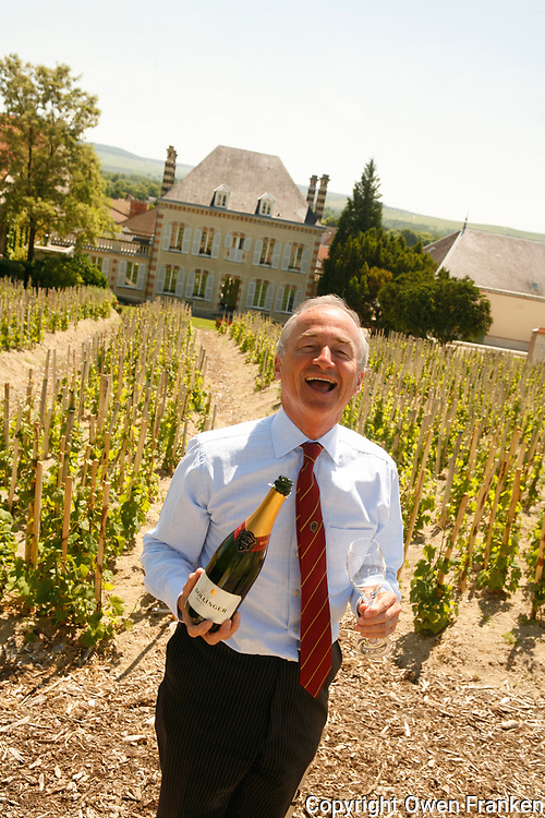 Director Ghislain de Monglofier, in the &quot;Chaude Terre&quot; Vineyard,  Bollinger Champagne, Ay, France<br /> <br /> The grapes from this vineyard is used for the exclusive Bollinger Vieilles Vignes Francaises<br /> <br /> photograph by Owen Franken for the NY Times<br /> <br /> assignment number 30024675A<br /> <br /> June 6, 2006