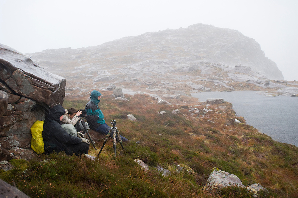 Photographers above Coire nan Arr, Wester Ross