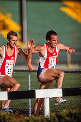 Brian Diemer, Henry Marsh, steeplechase, Prefontaine Classic track and field meet, Hayward Field, University of Oregon, Eugene, Oregon, USA