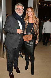 ROBERT BENSOUSSAN and ALEX MEYERS at an evening of Fashion, Art & design hosted by Ralph Lauren and Phillips at the new Phillips Gallery, 50 Berkeley Square, London on 22nd October 2014.