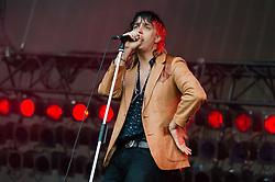 © Licensed to London News Pictures. 18/06/2015. London, UK.   The Strokes performing live at Hyde Park.   In this picture - Julian Casablancas.  Photo credit : Richard Isaac/LNP