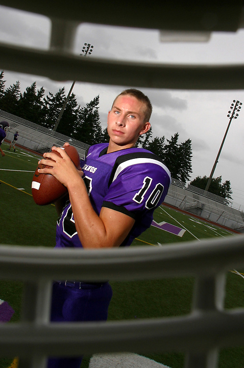 Ryan Staudacher of Lake Washington threw for 6,655 yards and 50 touchdowns during his high school career.