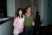 SUSIE CAVE; NICK CAVE, Daydreaming with ... James Lavelle. Haunch of Venison. London. 26 August 2010. -DO NOT ARCHIVE-© Copyright Photograph by Dafydd Jones. 248 Clapham Rd. London SW9 0PZ. Tel 0207 820 0771. www.dafjones.com.