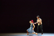 """A man and a woman struggle in Barak Marshall's ballet """"Harry""""."""