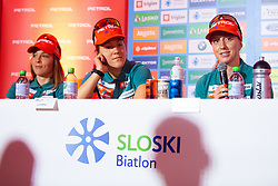 Polona Klemencic during press conference of Slovenian Nordic Ski Cross country team before new season 2019/20, on Novamber 12, 2019, in Petrol, Ljubljana, Slovenia. Photo Grega Valancic / Sportida