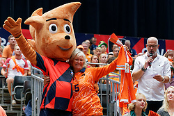 13-09-2019 NED: EC Volleyball 2019 Netherlands - Montenegro, Rotterdam<br /> First round group D Netherlands win 3-0 / Dutch fan, masco, Rabobank Club Tribune
