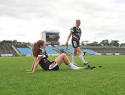 Sligo players Orla McGovern and Katie Walsh disappointed after the Connacht Intermediate final against Leitrim.<br /> Pic Conor McKeown