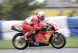 SEAN EMMETT GB REVE RED BULL  DUCATI  SUPERBIKE, World Superbikes Round 2 Championship Donington Park 13th April 1998wsb  13/4/98