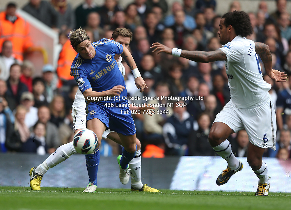 20 October 2012  Premier League football - Tottenham Hotspur v Chelsea<br /> Fernando Torres on the attack for Chelsea.<br /> Photo: Mark Leech.