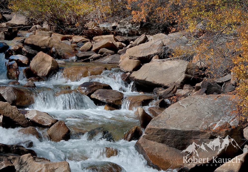 Falling stream on Chalk Creek, near St. Elmo