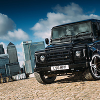 Land Rover Owner Magazine<br /> Deranged Landrover<br /> London, Canary Wharf<br /> 7th March 2016<br /> Photo copyright : Malcolm Griffiths<br /> ref: Digital Image A50A8840<br /> www.malcolm.gb.net