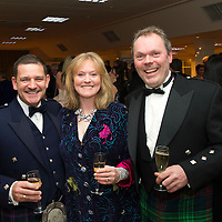 Perthshire Chamber of Commerce Business Star Awards...23.11.12<br /> Pictured from left, Steve Brown Chairman St Johnstone FC with Rose and Alistair Martin of The Wee Pie Company.<br /> Picture by Graeme Hart.<br /> Copyright Perthshire Picture Agency<br /> Tel: 01738 623350  Mobile: 07990 594431