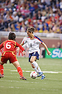 (11 US) Carli Lloyd & (6 China) Zhang Na. US Women National Team vs. China. US 1 China 0