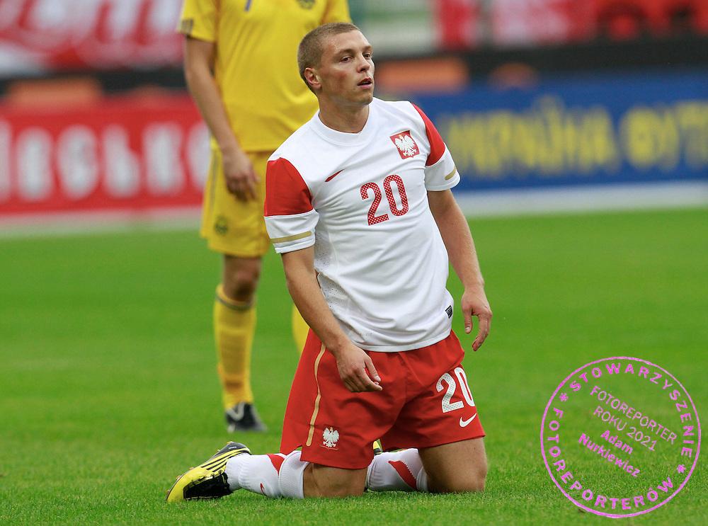 LODZ 04/09/2010.FOOTBALL INTERNATIONAL FRIENDLY.POLAND v UKRAINE.Maciej Iwanski of Poland ..Fot: Piotr Hawalej / WROFOTO