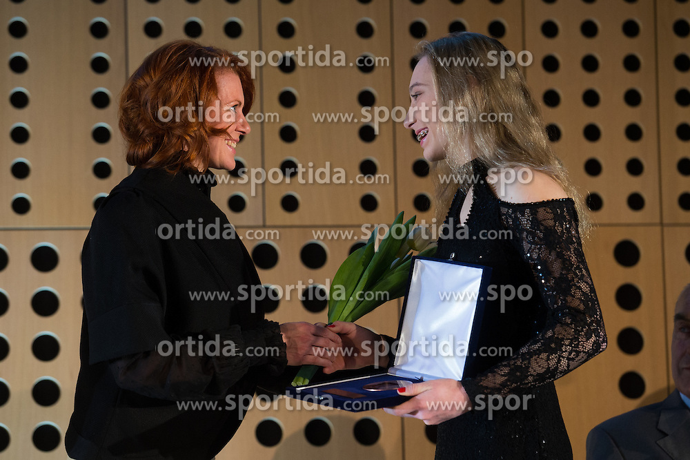 Janja Barnbret at 52th Annual Awards of Stanko Bloudek for sports achievements in Slovenia in year 2016 on February 14, 2017 in Brdo Congress Center, Brdo, Ljubljana, Slovenia.  Photo by Martin Metelko / Sportida