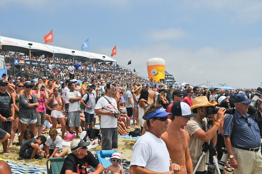 Crowd of Spectators at the US Open in Huntington Beach California