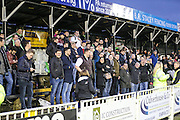 Forest Green fans in attendance today during the Vanarama National League match between Bromley FC and Forest Green Rovers at Hayes Lane, Bromley, United Kingdom on 7 January 2017. Photo by Shane Healey.