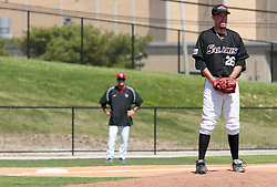18 April 2010: Randy Hoelscher.  Southern Illinois Salukis and the Illinois State Redbirds face off on Duffy Bass Field on the campus of Illinois State University in Normal Illinois.