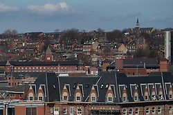 © Licensed to London News Pictures . 06/04/2015 . Leeds , UK . GV of houses as viewed from Leeds City Centre . Photo credit : Joel Goodman/LNP
