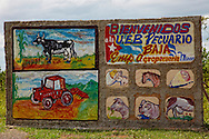A farm sign near Santa Lucia, Pinar del Rio Province, Cuba.