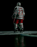2/18/06  Omaha, Ne University of Nebraska at Omaha's Scott Parse during pre game intros night at the Omaha Civic Auditorium..(Photo by Chris Machian/Prarie Pixel Group).