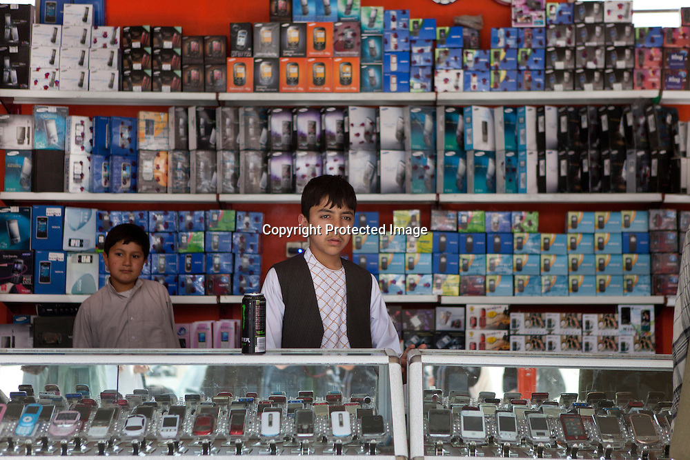 telephone shop in herat, Afghanistan