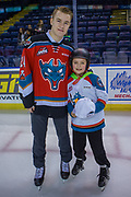 KELOWNA, CANADA - FEBRUARY 19:  Kyle Topping #24 of the Kelowna Rockets at the CIBC Family Skate with the Kelowna Rockets on February 19, 2018 at Prospera Place in Kelowna, British Columbia, Canada.  (Photo By Cindy Rogers/Nyasa Photography,  *** Local Caption ***