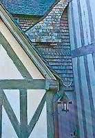Norman building texture at Mont-Saint-Michel, France