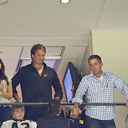 October 7, 2012; New Orleans, LA, USA; Suspended New Orleans Saints head coach Sean Payton in attendance during the first quarter of a game against the San Diego Chargers at the Mercedes-Benz Superdome. Mandatory Credit: Derick E. Hingle-US PRESSWIRE