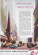 Nuffield America USA car advert advertising in Country Life magazine UK 1951