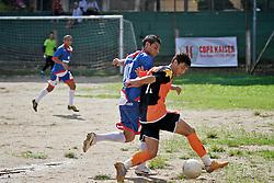 Lande de jogo entre as equipes do Zona Sul e América, no campo Ararigbóia, em partida válida pela Copa Kaiser de Futebol Amador 2012.  FOTO: Jefferson Bernardes/Preview.com
