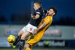 Falkirk's John Baird and Morton's Ricki Lamie. Falkirk 0 v 1 Morton, Scottish Championship game played 18/3/2017 at The Falkirk Stadium.