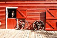 Big Horn County Historical Museum, Hardin, Montana, 1916 barn.