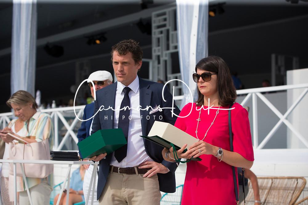 Prizegiving, Reverdin Arnaud, Rolex<br /> Rolex Grand Prix CSI 5* - Knokke 2017<br /> © Dirk Caremans<br /> 09/07/17
